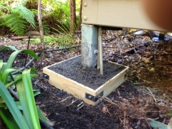 6. Installed box to retain soil treated with Bifenthrin