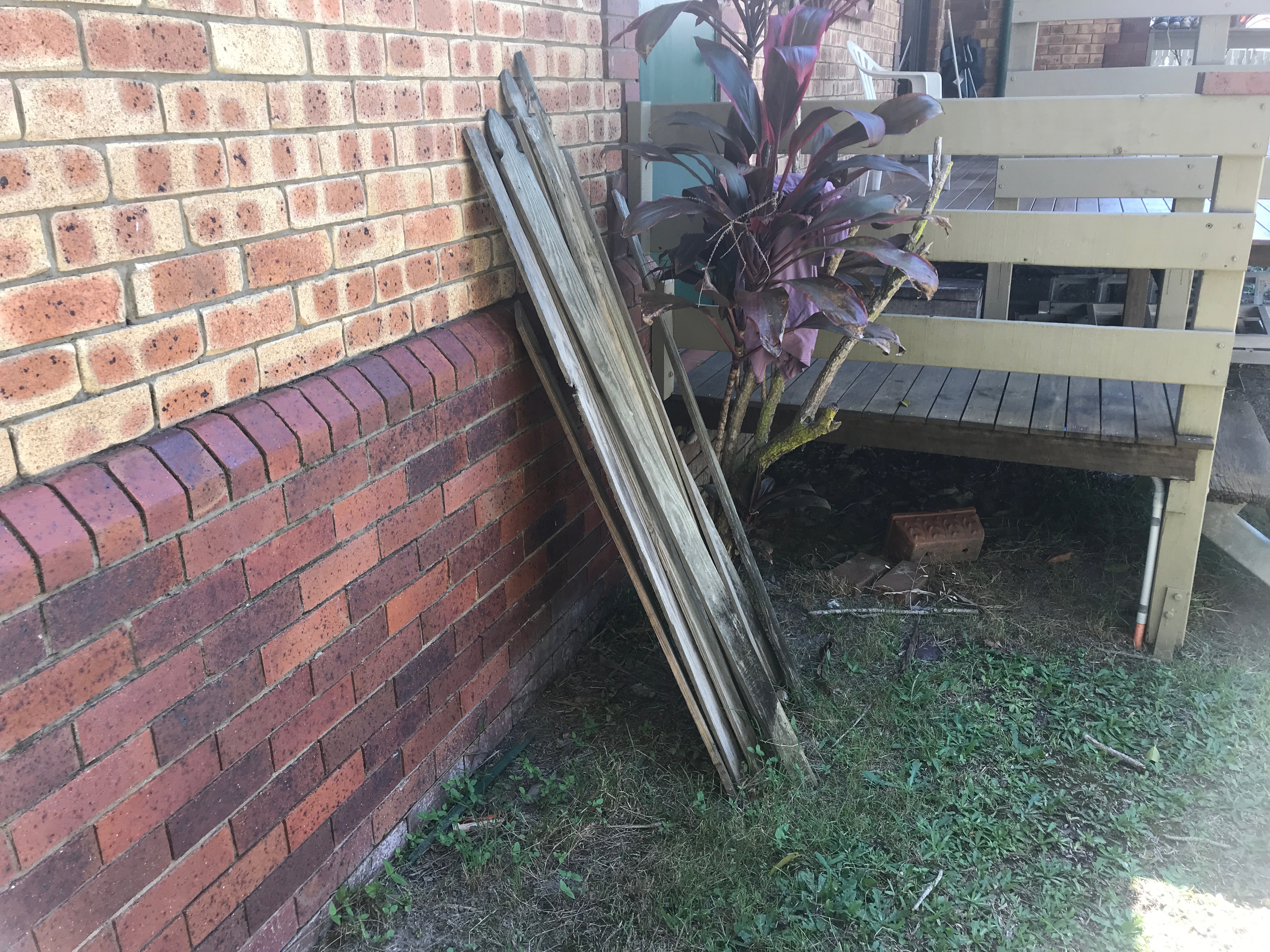 This stored timber could act as a bridge for termites to get access week points in the mortar