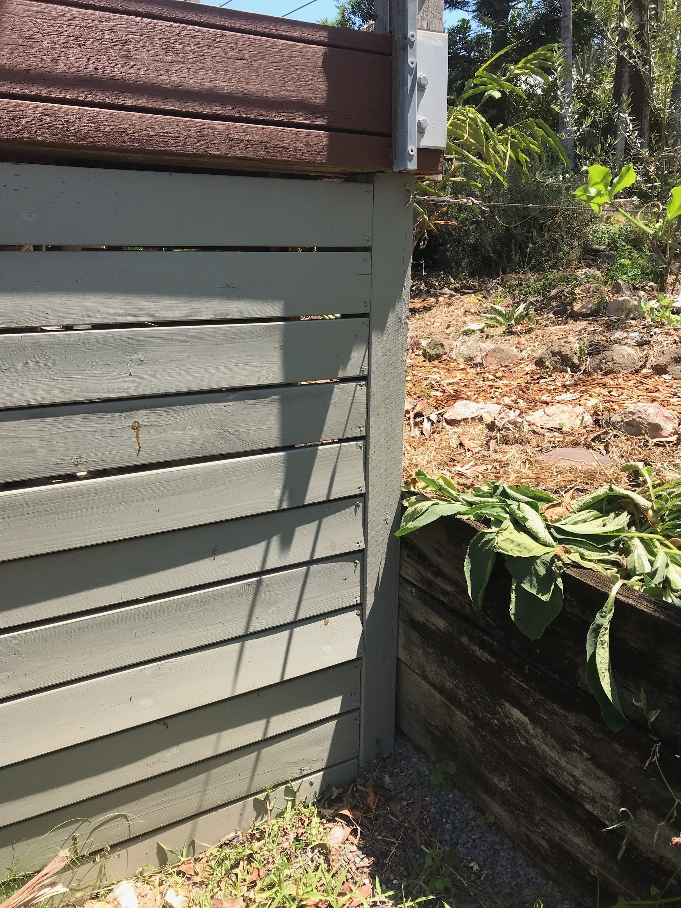 Shadow wall' providing conditions conducive to concealed termite entry to this home